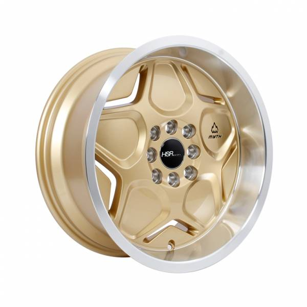 HSR MYTH04 Ring 16x7-8 H8x100-114,3 ET40-35 Gold Machine Lips1