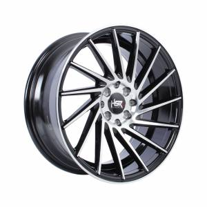 HSR Nagano H589 Ring 17X7,5-8,5 H8x100-114,3 ET42 Black Machine Face1