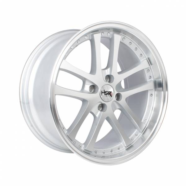 HSR Shoji H55453 Ring 17x7,5-8,75 H4x100 ET35-25 Silver Machine Face1