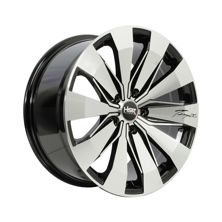 HSR Tempest JD83 Ring 18x85 H5x1143 ET45 Black Machine Face1
