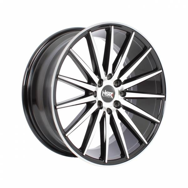 HSR Tsukuba H17783 Ring 17x7,5 H8x100-114,3 ET38 Black Machine Face1