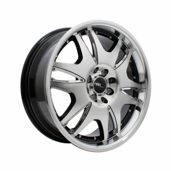 HSR Vegas H309 Ring 17x7 H8x100-114,3 ET40 Black Machine Face1