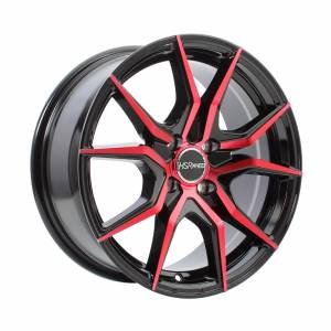 HSR Vital JD5270 Ring 16x7 H4x100 ET40 Black Red Face1