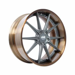 HSR FG22 FORGED22 Ring 22x10 H5x127 ET45 Bronze Coating Rim1