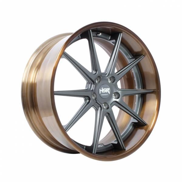 HSR FG22 FORGED22 Ring 22x10 H5x127 ET45 Bronze Coating Rim1