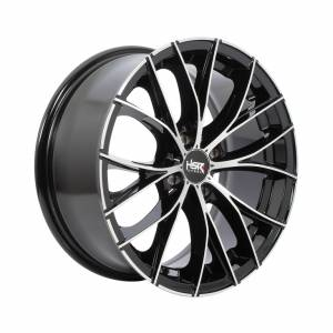 HSR Naples JD140 Ring 16x7 H4x100 ET38 Black Machine Face1