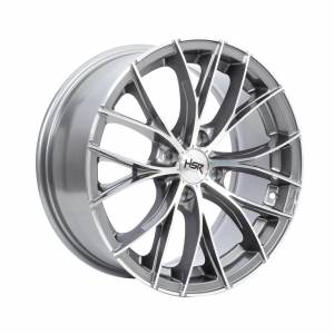 HSR Naples JD140 Ring 16x7 H4x100 ET38 Grey Machine Face1