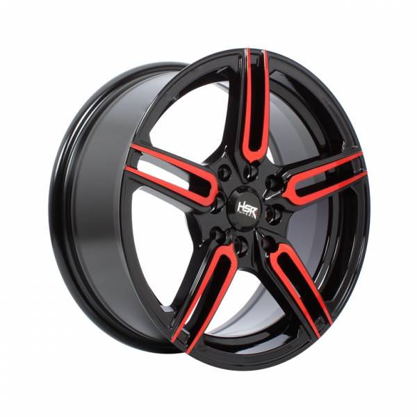 HSR Sayosa 2093 Ring 15x6.5 H8x100-114,3 ET38 Black Machine Face Red1