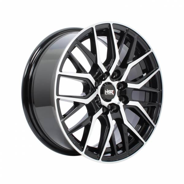 HSR Siadung 2084 Ring 15x6,5 H8x100-114,3 ET40 Black Machie Face1