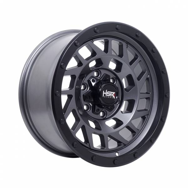 HSR Bone JTBM1 Ring 17x8,5 H6x139,7 ET8 Semi Matte Grey Black Lips11