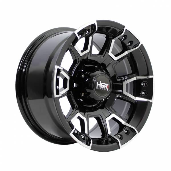 HSR Komo 7805 Ring 15x8 H6x139,7 ET-10 Black Machine Face1