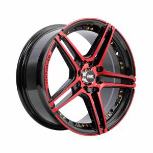 HSR Lucero 227 Ring 16x7 H8x100-114,3 ET38 Black Machine Face Red1