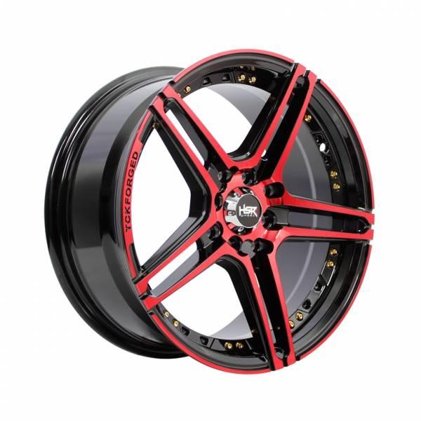 HSR Lucero 227 Ring 16x7 H8x100-114,3 ET38 Black Machine Face Red1