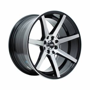 HSR NE7 H732 Ring 17x7,5-9 H8x100-114,3 ET42-30 Black Machine Face1