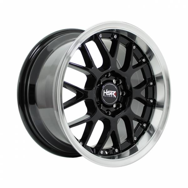 HSR Oita JD831 Ring 15x7-8 H8x100-114,3 ET38 Black Machine Lips1
