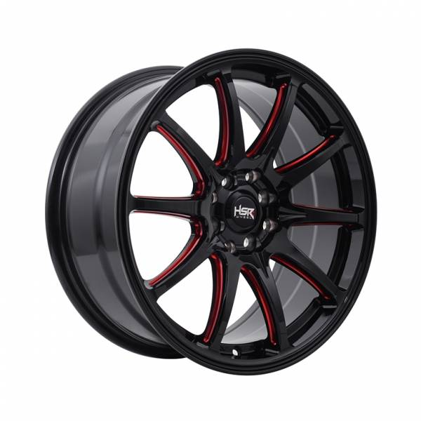 HSR Assasin JD5907 Ring 17x7,5 H8x100-114,3 ET40 Black Red1