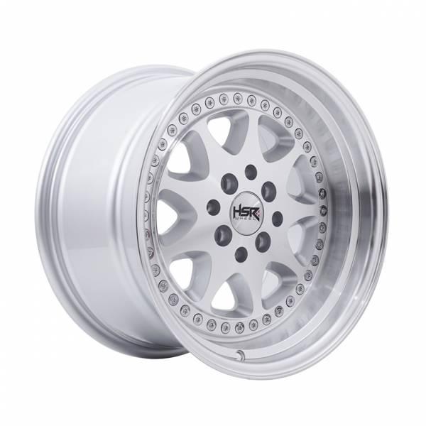 HSR Bavaria JD9016 Ring 16x8-9 H8x100-114,3 ET30-25 Silver Machine Face Lips1