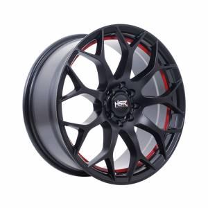 HSR Dockland JD9050 Ring 17x7,5 H8x100-114,3 ET40 Semi Matte Black Red1
