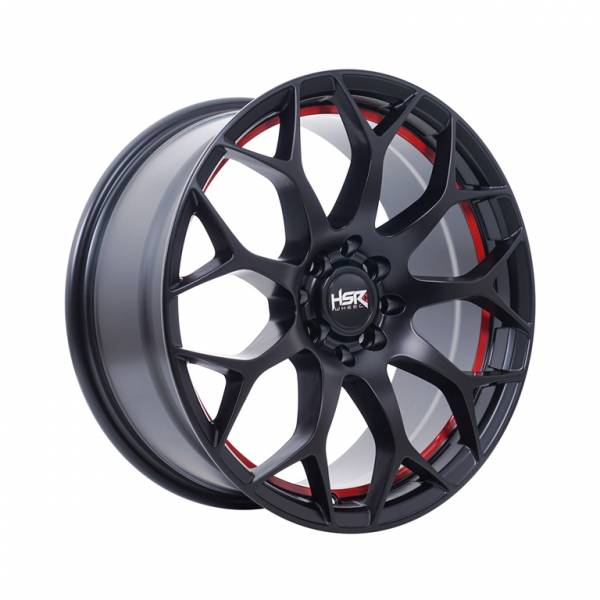 HSR Dockland JD9050 Ring 17x7,5 H8x100-114,3 ET40 Semi Matte Black Red1