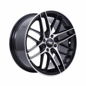 HSR Koli 873 Ring 16x7 H8x100-114,3 ET40 Black Machine Face1