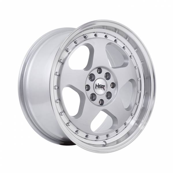 HSR Loud JD805 Ring 17x7,5-8,5 H8x100-114,3 ET45-35 Silver Machine Lips Chrome Rivets1