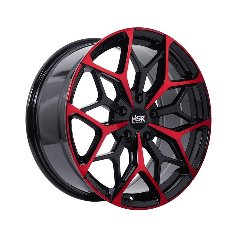 HSR MYTH01 Ring 18x8 H5x114,3 ET45 Black Machine Face Red1