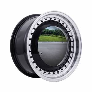 HSR Mirror REW024 Ring 15x6,5 H8x100-114,3 ET30 Black Machine Lips Black Rivets1