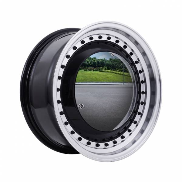HSR Mirror REW024 Ring 15x6,5 H8x100-114,3 ET30 Black Machine Lips Black Rivets1
