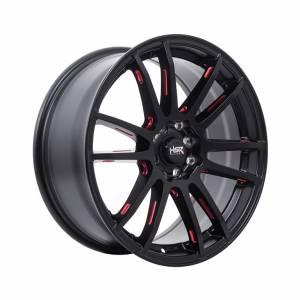 HSR Noshiro 57E JD5619 Ring 17x7,5 H8x100-114,3 ET38 Semi Matte Black Red5