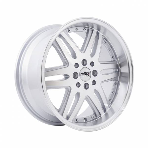 HSR Okayama JD7332 Ring 17x8,5 H8x100-114,3 ET38 Silver Machine Face Lips1