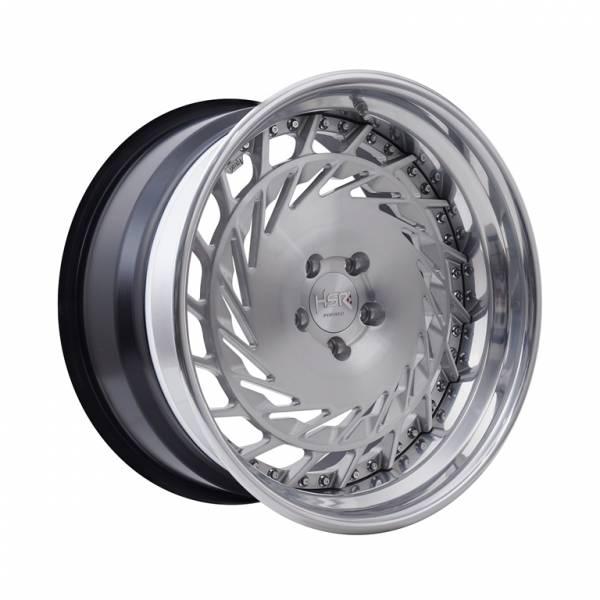 HSR RFG Loop ES-017 Ring 20x9,5-10,5 H5x114,3 ET28-23 Brush Spoke Polish1