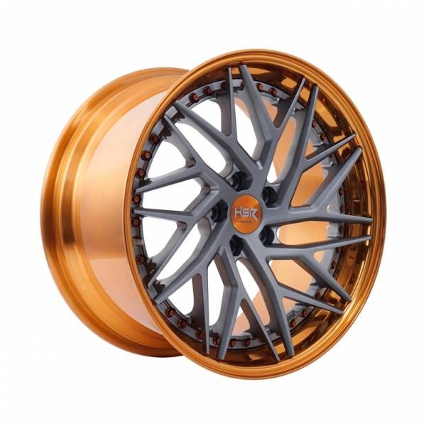 HSR RFG Riyai ES-013 L+R Ring 19x9-10 H5x112 ET38-45 Orange Color Lips1