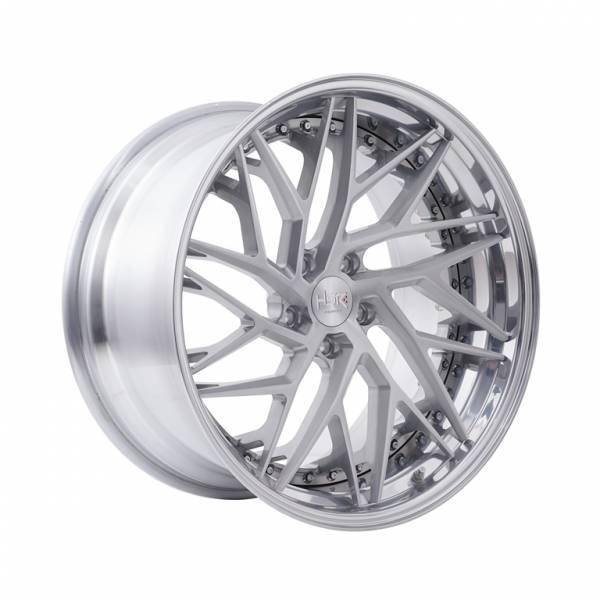 HSR RFG Riyai ES-013 L+R Ring 20x9,5-10,5 H5x114,3 ET28-23 Brush Silver Face1