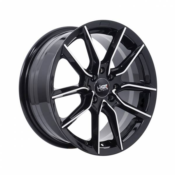 HSR Sanana 5061 Ring 16x7 H8x100-114,3 ET40 Black Machine Face1