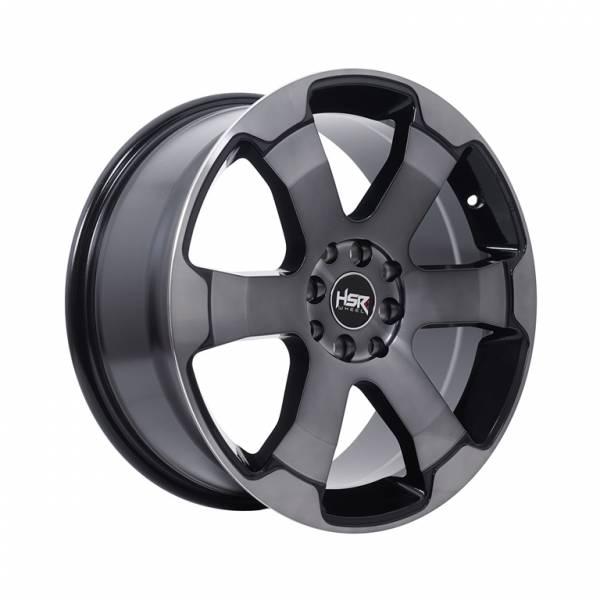 HSR Sound JD804 Ring 17x7,5 H8x100-114,3 ET45 Black Machine Face Dark Tint Face1