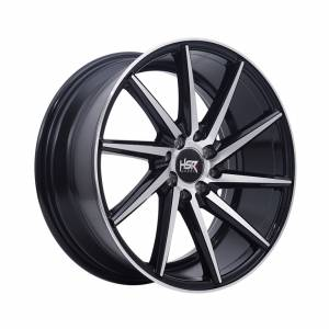 HSR Ciao H561 Ring 17x7,5 H8x100-114,3 ET35 Black Machine Face1