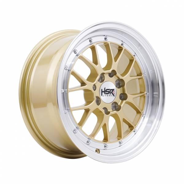 HSR Lemans U272 Ring 15x7 H8x100-114,3 ET38 Gold Machine Lips1