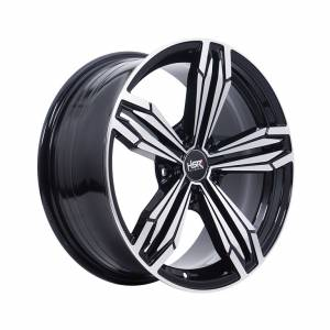 HSR Mekin 5082 Ring 17x7,5 H5x120 ET40 Black Machine Face1