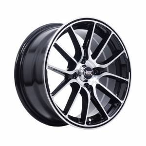HSR Mimosa 1129 Ring 15x7 H4x100 ET40 Black Machine Face1