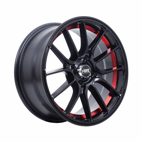 HSR Mimosa 1129 Ring 15x7 H4x100 ET40 Matte Black Red1