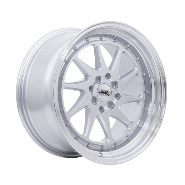 HSR Ozora JD8157 Ring 17x7,5-8,5 H8x100-114,3 ET42-35 Silver Machine Lips1