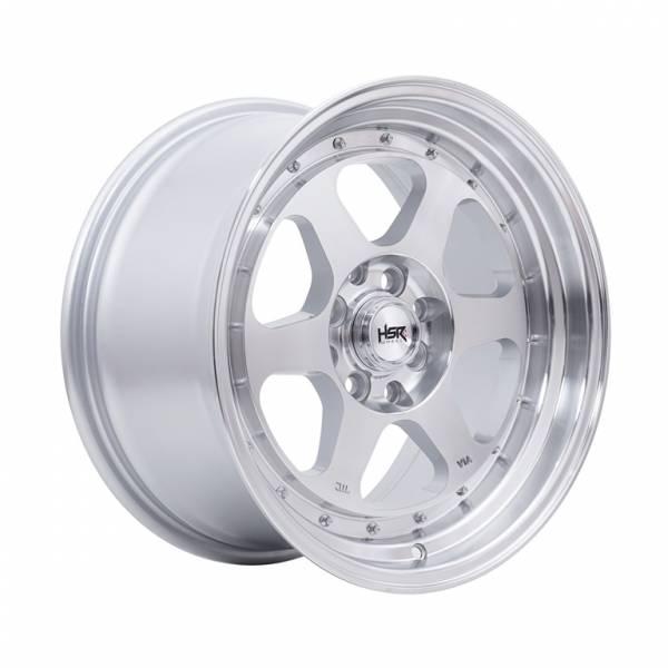 HSR Rumoi JD8659 Ring 16x7,5-8,5 H8x100-114,3 ET35-30 Silver Machine Face Lips1