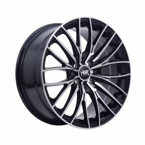 HSR Siantan H886 Ring 17x7,5 H8x100-114,3 ET42 Black Machine Face1