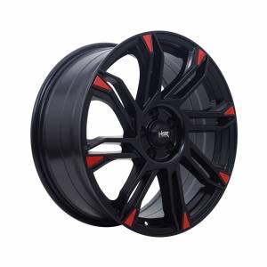 HSR Sirius 10511880 Ring 18x8 H5x105 ET38 Semi Matte Black Red1