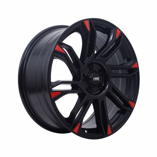 HSR Sirius 10511880 Ring 18x8 H5x105 ET38 Semi Matte Black Red1