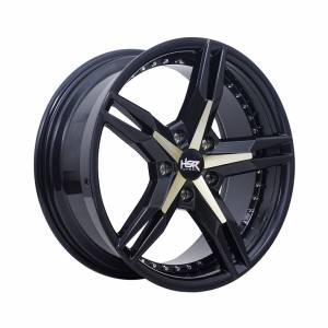 HSR Keunikai 5064 Ring 17x7,5 H5x114,3 ET40 Dark Grey Yellow Face1