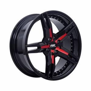 HSR Keunikai 5064 Ring 17x7,5 H8x100-114,3 ET40 Black Glossy Red Face1