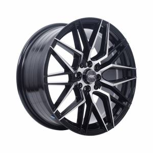 HSR Botawa 1121 Ring 17x7,5 H8x100-114,3 ET40 Black Machine Face1