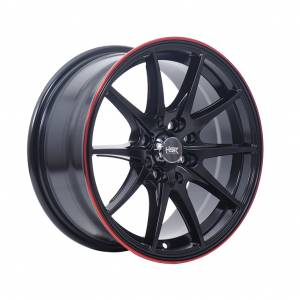 HSR Point G25 Ring 15x7 H8x100-114,3 ET40 Matte Black Red Lips1
