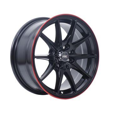 HSR Point G25 Ring 15x7 H8x100-114,3 ET40 Matte Black Red Lips1